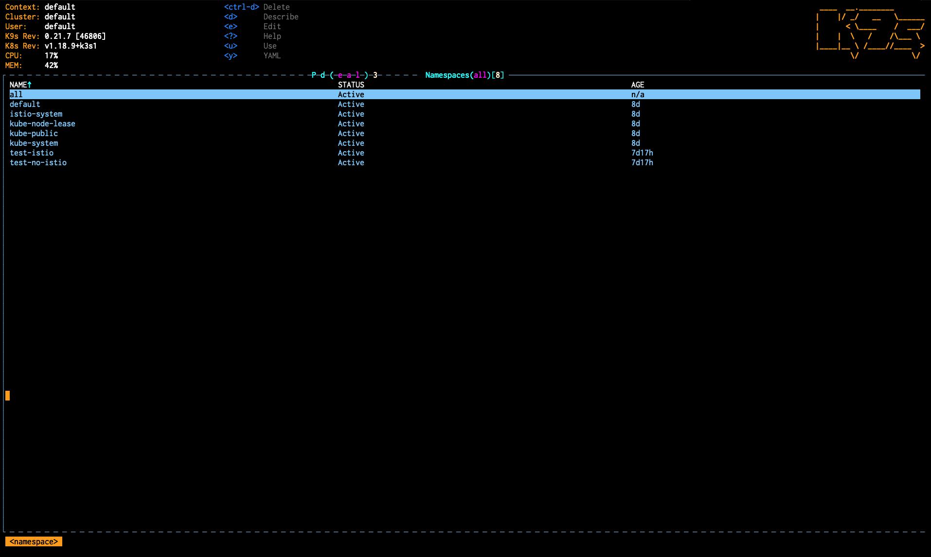 k9s-namespace